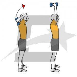 Extensiones de pie con un brazo