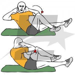 Giros de tronco contra rodilla contraria